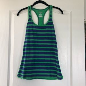 Champion Green and Blue Stripe Racerback Tank